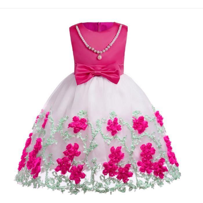 Petite Robe Bebe Fille Bapteme Robes Enfants Evenements Party Wear Vetements Filles Ruouge Achat Vente Robe De Mariee Cdiscount