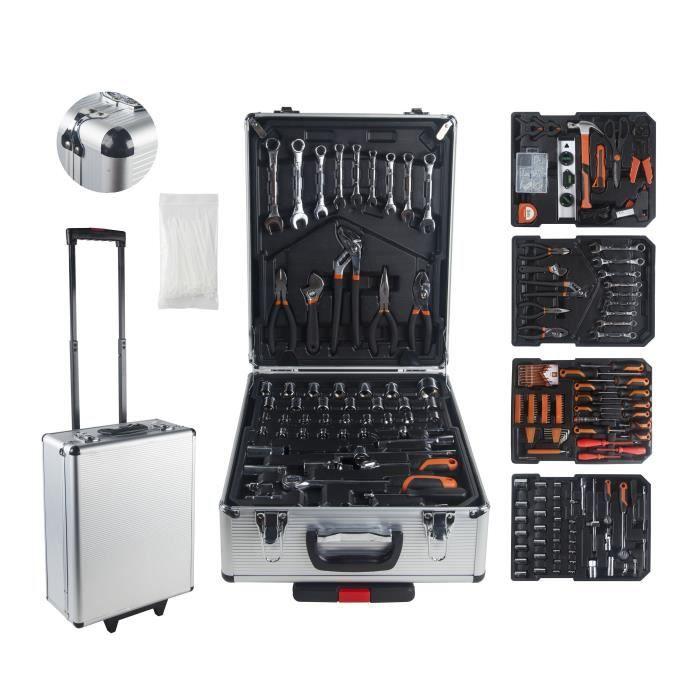 PACK OUTIL A MAIN MANUPRO Valise aluminium 999 outils et accessoires