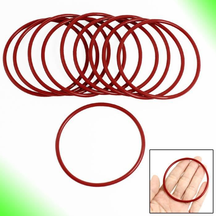 Lot de 10 en silicone rouge O Ring huile Joints Joints Rondelles 70mm  x 2,5mm