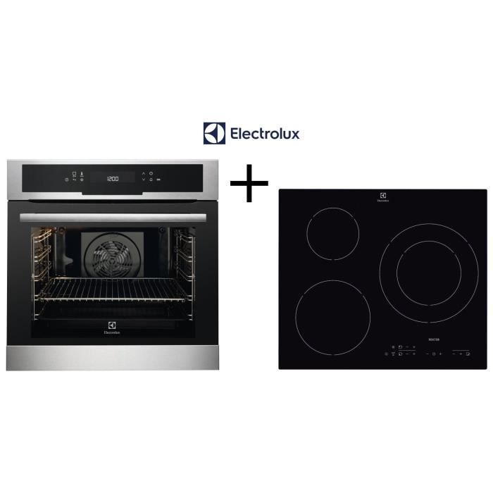 PACK CUISSON ELECTROLUX - EEC5799BOX Four chaleur tournante - E6113HIK Table de cuisson induction 3 zones