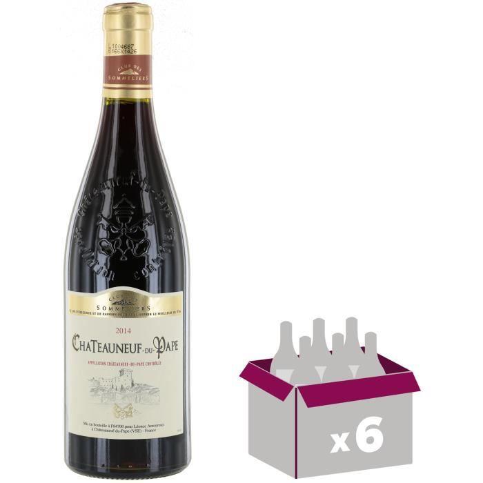 CHATEAUNEUF-DU-PAPE Vin de la Vallée du Rhône - Rouge - 75 cl x 6