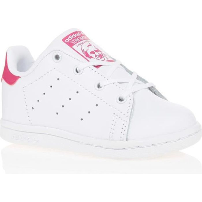 ADIDAS Baskets Stan Smith - Bébé fille - Blanc et rose