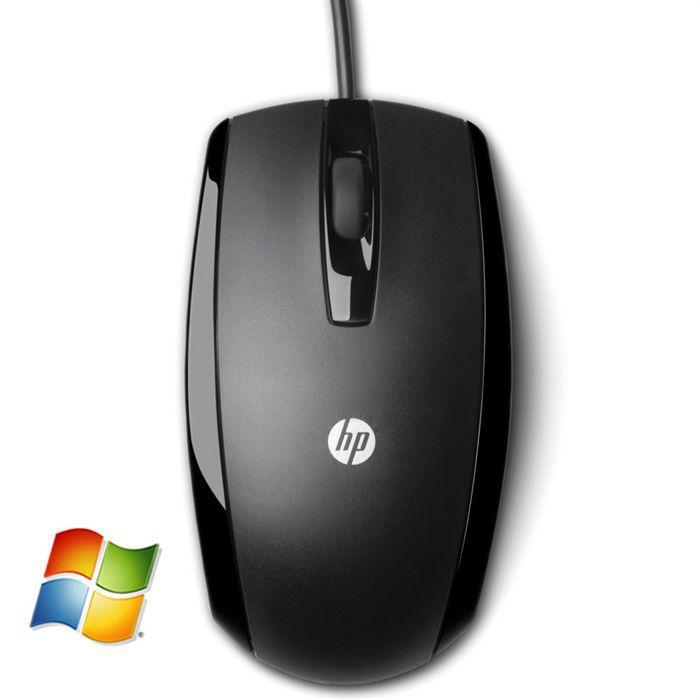 HP souris optique filaire USB noire