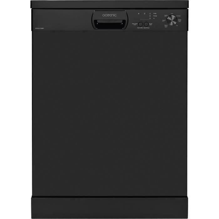 Lave-vaisselle pose libre OCEANIC OCEALV1249B1 - 12 couverts - Largeur 59,8 cm - 49 dB - Noir