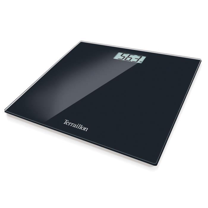 TERRAILLON BEG47019BK Pèse-personne électronique en verre noir