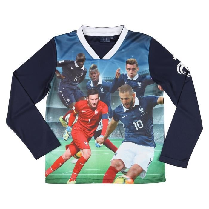 FFF T-shirt Football Equipe de France Enfant Garçon