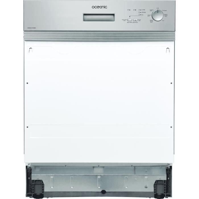 Lave-vaisselle encastrable OCEANIC OCEALV1349ES - 13 couverts - Largeur 59,8 cm 49 dB - Bandeau silver