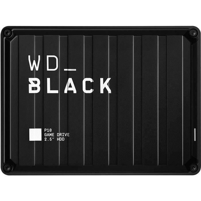 WD_BLACK P10 Game Drive - Disque dur externe Gaming - 5 To - PS4 Xbox - 2,5- (WDBA3A0050BBK-WESN)
