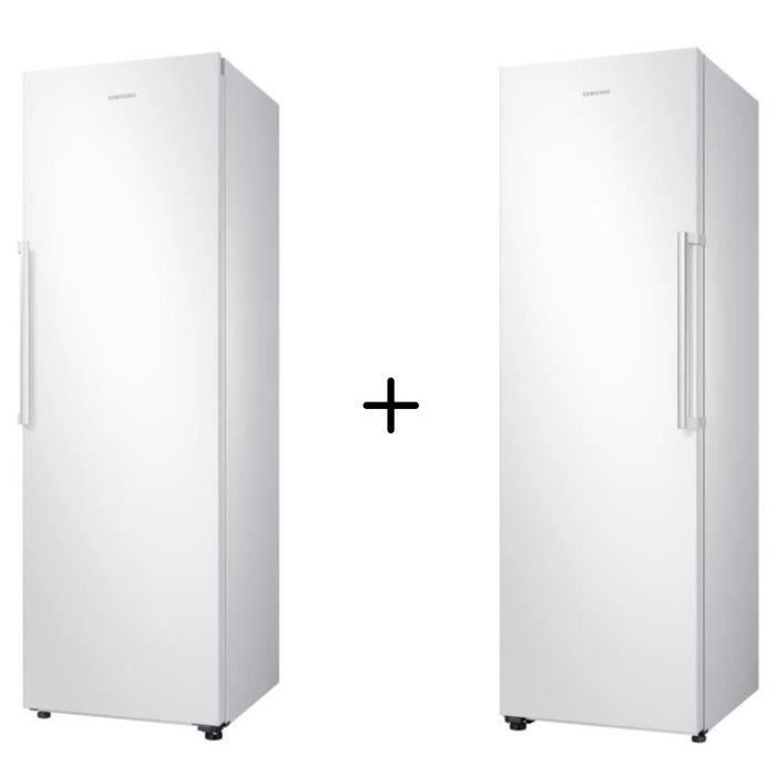 PACK FROID SAMSUNG RR39M7000WW-Réfrigérateur-385 L-Froid ventilé intégral + RZ32M7000WW -Congélateur-315 L-Froid ventilé intégral