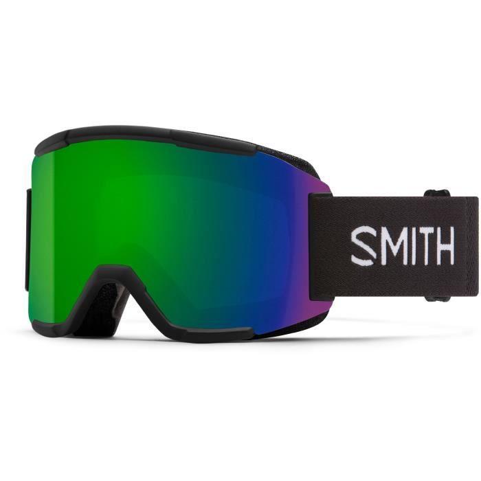 SMITH Masque de ski Squad - Homme - Noir Chroma Pop Sun Vert S3