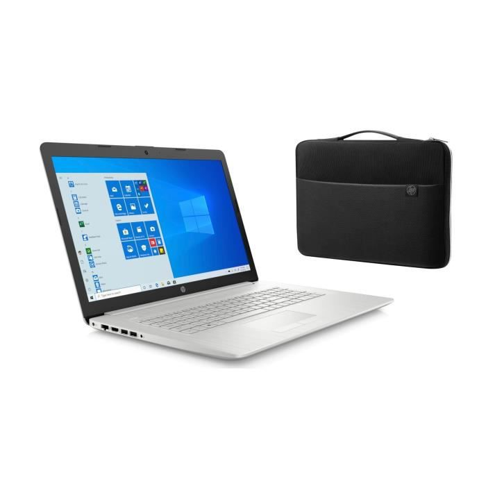 "HP PC Portable 17-ca2019nf - 17""HD+ - Ryzen 3 3250U - RAM 4Go - Stockage 128Go SSD + 1To HDD -"