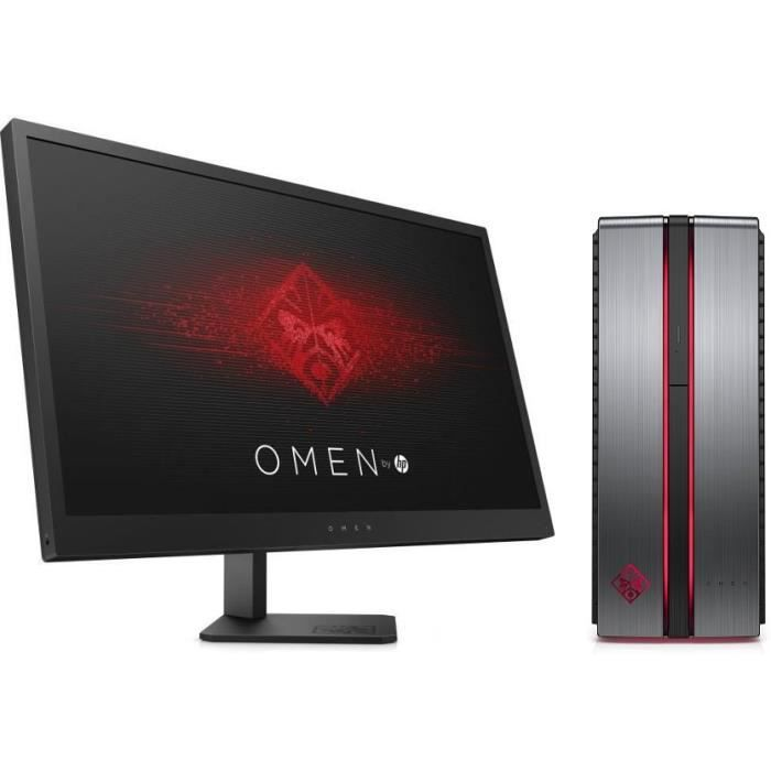 HP Omen 870-209nf - RAM 8Go - Intel Core i7-7700 - NVIDIA GeForce GTX 1060 - Stockage 128Go SSD + 1To + Ecran Omen 25\