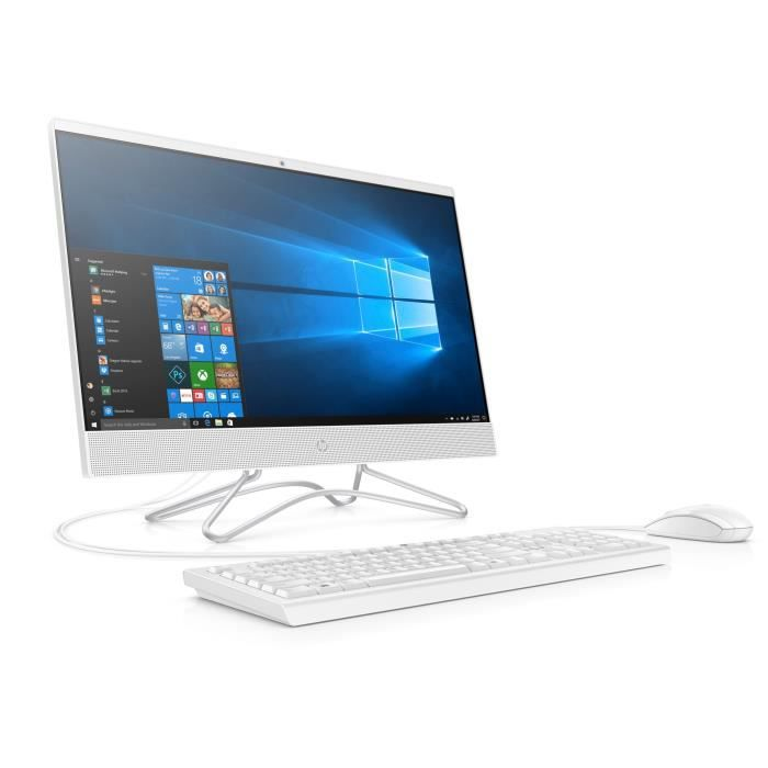HP PC Tout-en-Un HP24-f0099nf - 23,8 FHD - Core i3-8130U - RAM 8Go - Disque Dur 1To HDD + 128Go - Windows 10