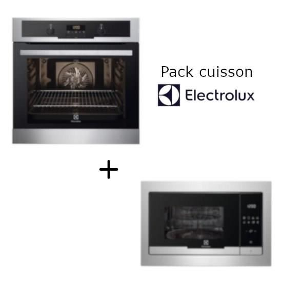 Pack Electrolux: Four encastrable EEC44549OX + Micro-ondes grill EMT25207OX