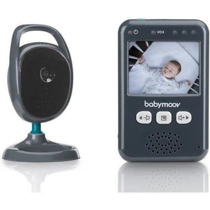 Babymoov Babyphone Vidéo Essential - Ecran Couleur 2,4- - Vision Nocturne - Multifonctions - Kit mural