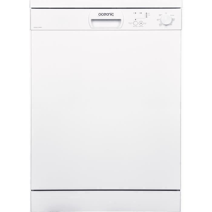 Lave-vaisselle pose libre OCEANIC OCEALV1249W1 - 12 couverts - Largeur 59,8 cm - 49 dB - Blanc