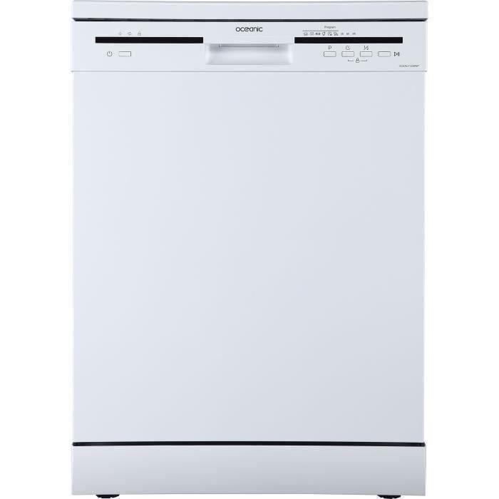Lave-vaisselle pose libre OCEANIC OCEALV1249WP - 12 couverts - Largeur 59,8 cm - 49 dB - Blanc