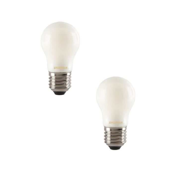 SYLVANIA Lot de 2 ampoules LED à filament Toledo RT Ball E27 4 W équivalent à 35 W
