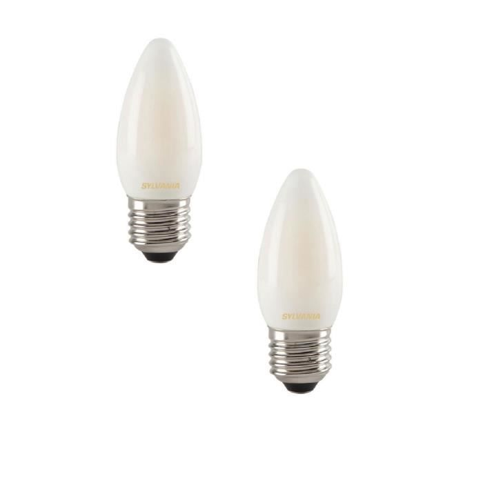 SYLVANIA Lot de 2 ampoules LED à filament Toledo RT Candle E27 4 W équivalent à 35 W