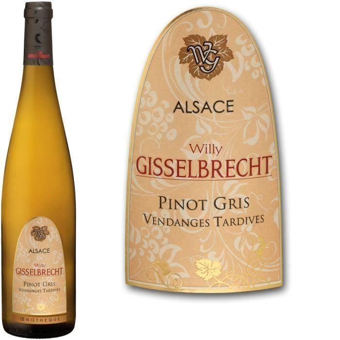 Gisselbrecht 2015 Pinot Gris Vendanges Tardives - Vin blanc d'Alsace