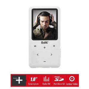 LECTEUR MP3 D-JIX M419 Lecteur MP4 1.8'' Blanc