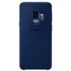 HOUSSE - ÉTUI Samsung Coque en Alcantara S9 - Bleu