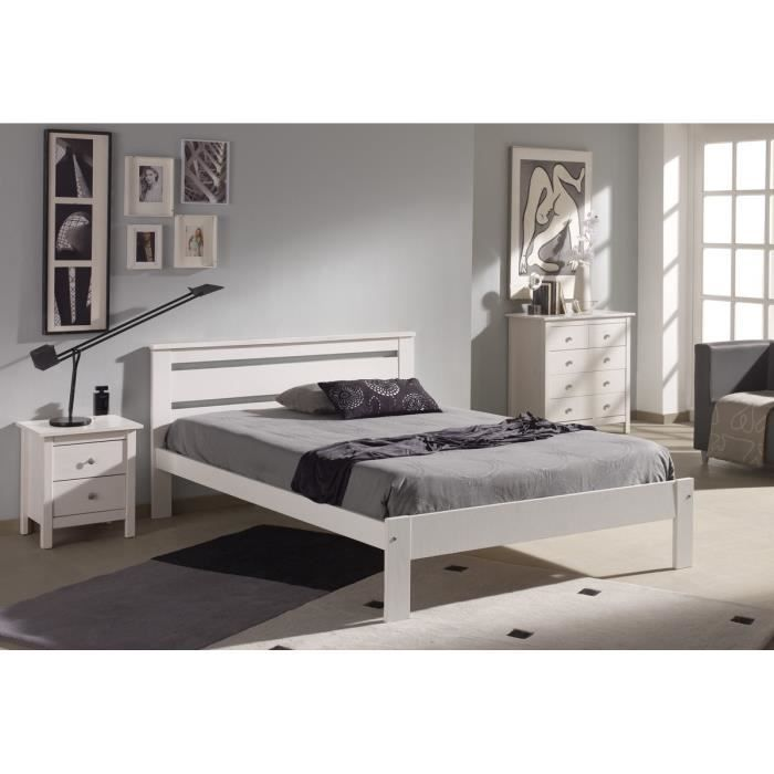 dina lit enfant sommier contemporain en bois pin massif. Black Bedroom Furniture Sets. Home Design Ideas