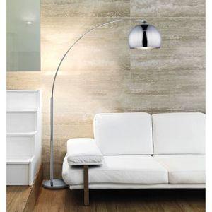 LAMPADAIRE DESI Lampadaire arceau chrome - H 166 cm - Contemp