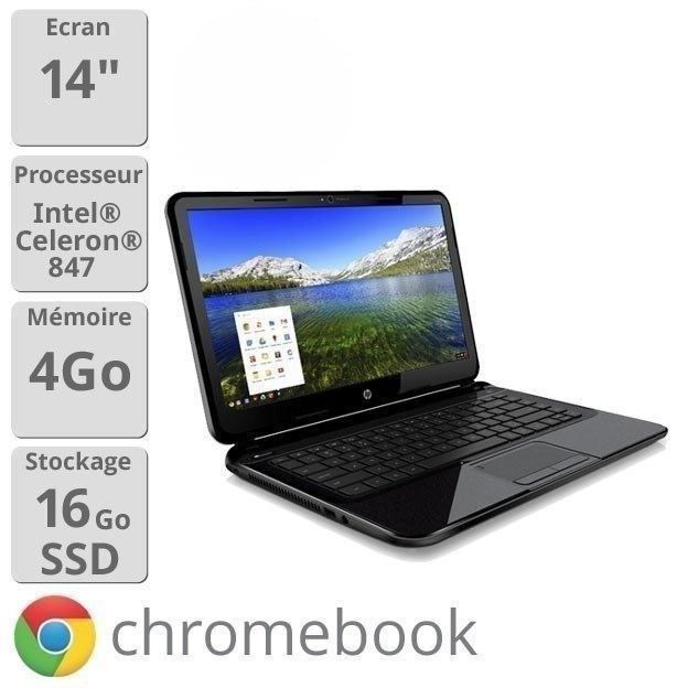 ORDINATEUR PORTABLE HP Pavilion 14-c001sf Chromebook