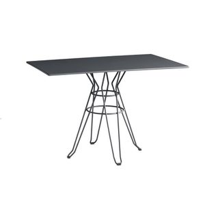 TABLE DE JARDIN  ISI MAR Table de jardin Menorca 110 x 70 cm - Gris