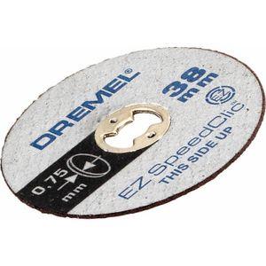 ACCESSOIRE MACHINE DREMEL 5 disques EZ Speedclic 38mm ép0,75mm/métaux