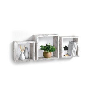 ETAGÈRE MURALE Set de 3 cubes gigognes murales en MDF - 23 / 26,5