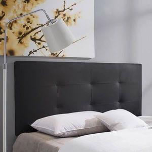 TÊTE DE LIT BARCELONA Tête de lit 160 cm en simili - Noir