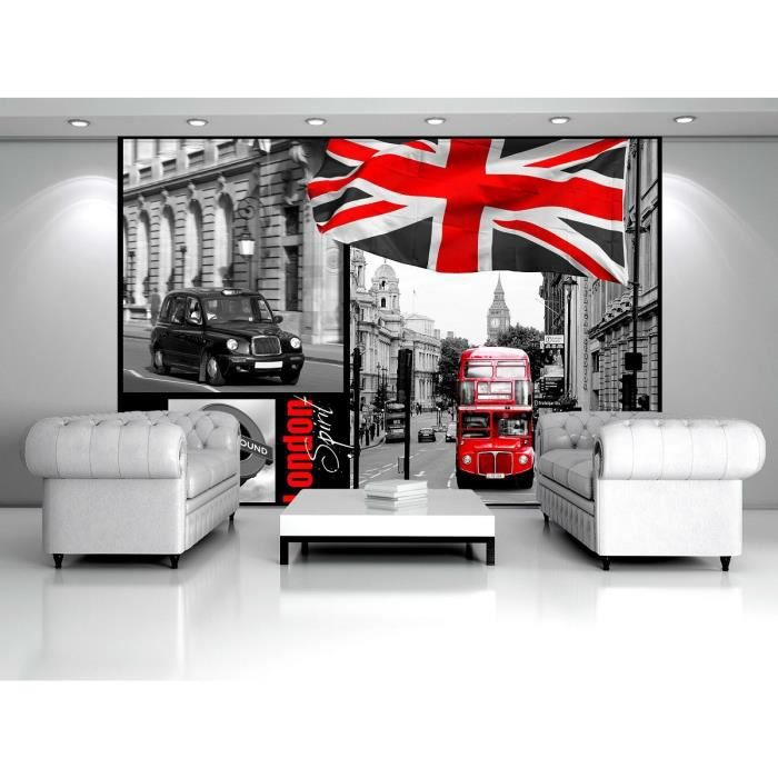 papier peint london achat vente papier peint london pas cher cdiscount. Black Bedroom Furniture Sets. Home Design Ideas