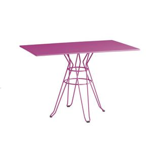 TABLE DE JARDIN  ISI MAR Table de jardin Menorca 110 x 70 cm - Rose
