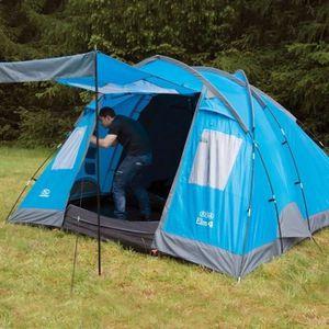 TENTE DE CAMPING HIGHLANDER Tente Familiale ELM 4 Bleu Vif