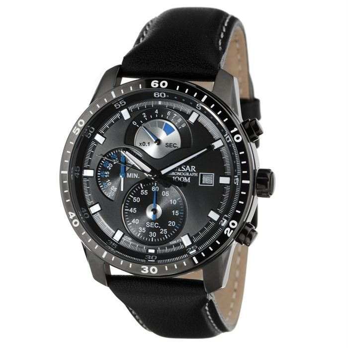 pulsar montre chronographe homme noir sport achat vente montre cdiscount. Black Bedroom Furniture Sets. Home Design Ideas