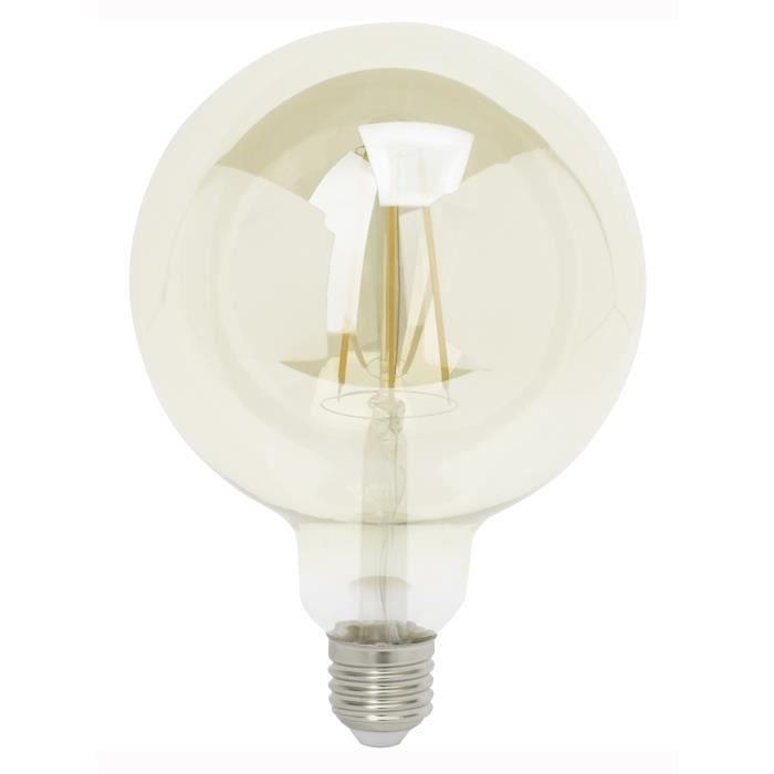 BRILLIANT Ampoule LED filament G95 E27 6 W équivalent à 40 W blanc chaud