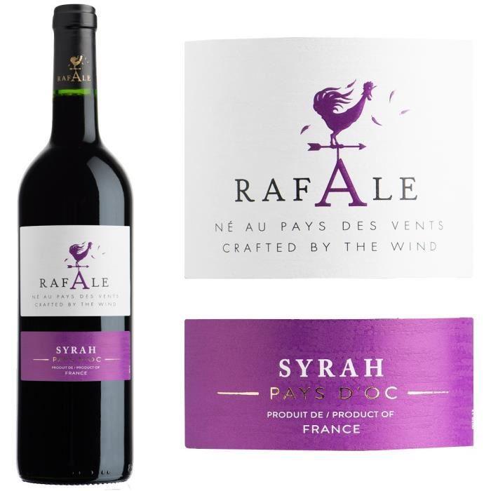 Rafale 2017 Syrah IGP Pays d'Oc -Vin rouge du Languedoc Roussillon