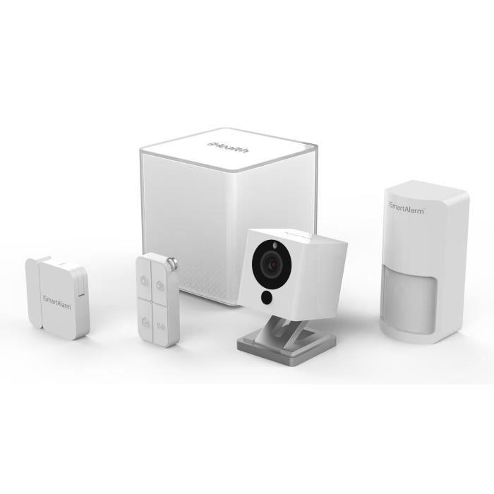 ISMARTALARM Essential Pack Alarme maison sans fil avec caméra de vidéosurveillance ISA2G