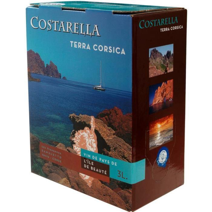 BIB 3L Costarella IGP Vins de Pays de l'Ile de Beauté vin rosé
