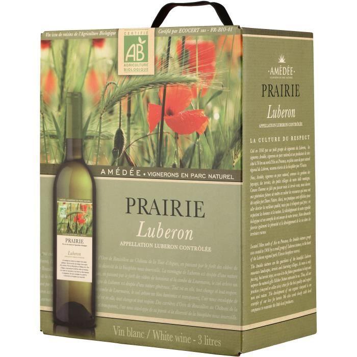 BIB Prairie Lubéron - Vin blanc de la Vallée du Rhône Bio
