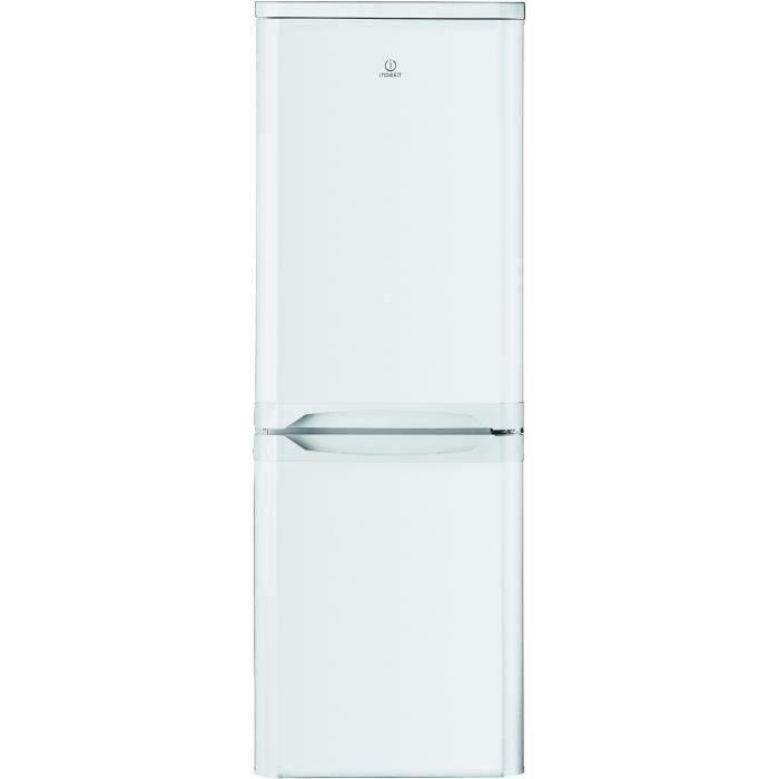 INDESIT NCAA55 - Réfrigérateur congélateur bas - 217L (150+67) - Froid statique - L 55cm x H 157cm - Blanc