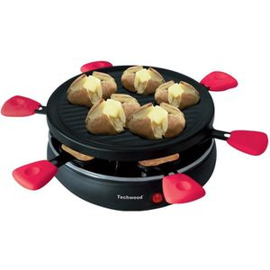 TECHWOOD TRA-65 Raclette + grill - 6 Personnes - 800 W