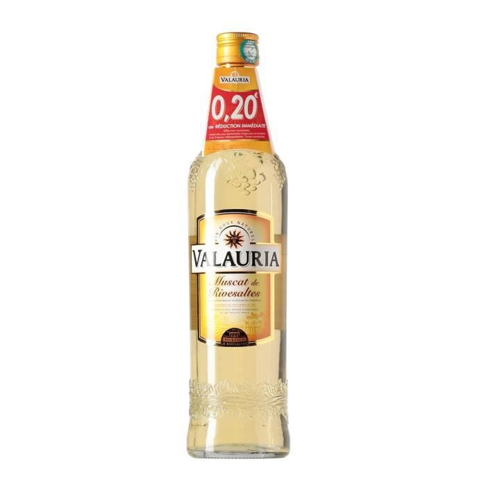Muscat de Rivesaltes Valauria - Vin Doux Naturels - 15,5%vol - 75cl