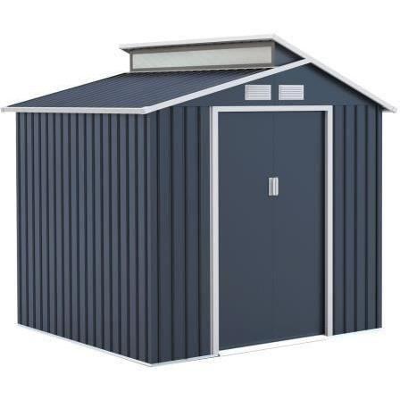 Abri de jardin acier 4,25 m2. avec kit d'ancrage inclus