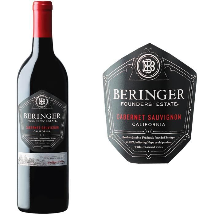 Beringer Founder Estate Cabernet Sauvignon - Vin rouge de Californie