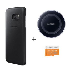 Samsung Pack Charge Induction + Coque pour Galaxy S7 + Micro SDHC 32 Go
