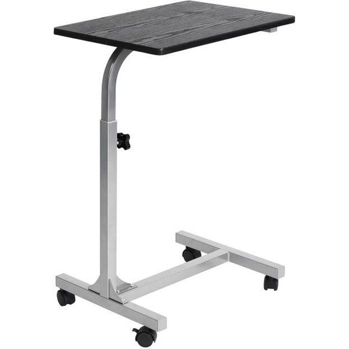 Table de lit - Ajustable en hauteur - Noir