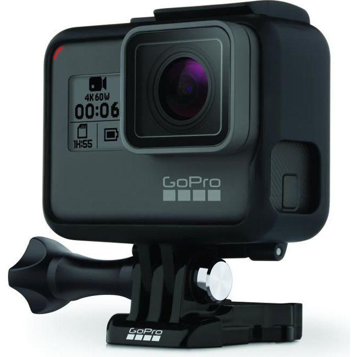 GOPRO HERO 6 BLACK Caméra de sport 4K60 - 12 MP - Wi-Fi - Bluetooth - Commandes vocales - Étanche jusqu'à 10m sans boîtier